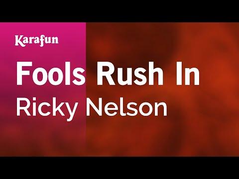 Karaoke Fools Rush In  Ricky Nelson *