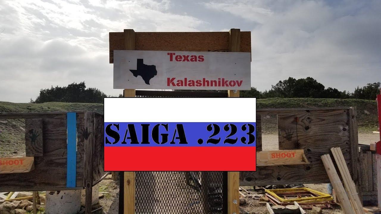 Saiga 223 Texas Kalashnikov @ Lloyd Leppo Range Feb 2019