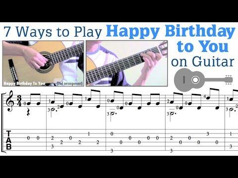 7 Ways to Play Happy Birthday on Guitar 吉他彈生日快樂的7種方法