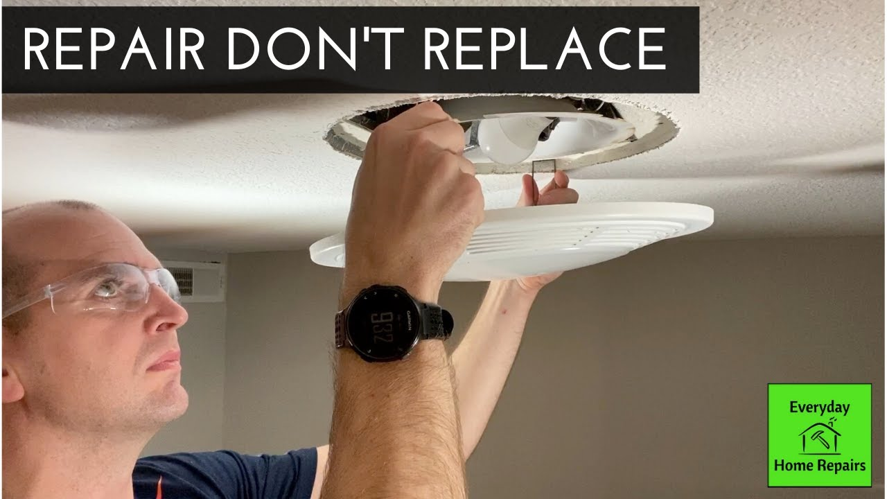 how to fix a noisy bathroom exhaust fan easy project