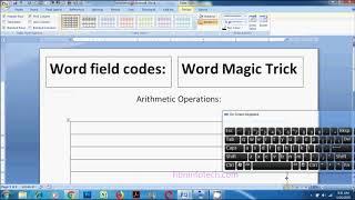 Word Field Codes - Word Magic Trick