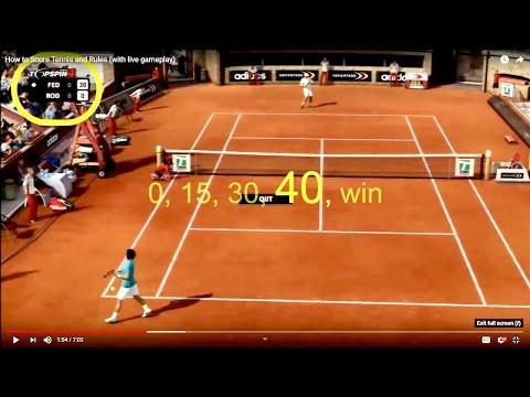 How to Score Tennis from a Teacher