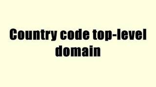 Country code top-level domain