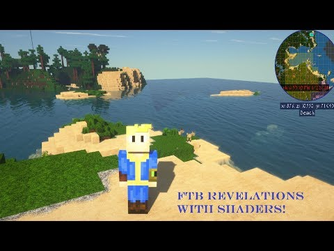 Minecraft FTB Revelations with shaders!