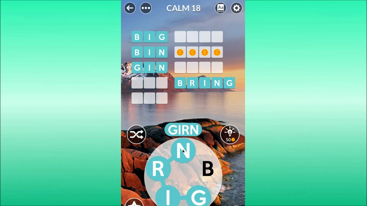 Wordscapes Uncrossed Calm 18 Youtube