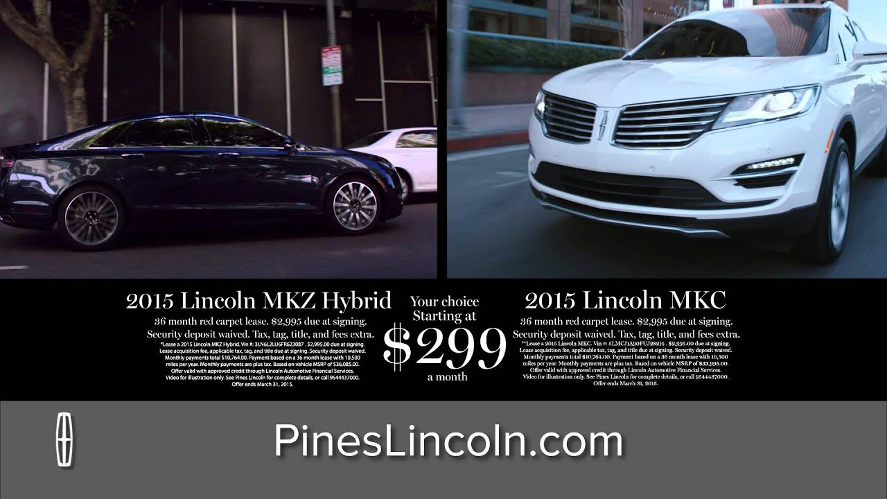 2017 Lincoln Mkz Hybrid Or Mkc Lease Offer Pines Pembroke Fl