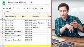 ФИНАНСОВАЯ ТАБЛИЦА | Как вести финансовый учет в таблицах Google? Видеоурок | Алексей Аль-Ватар