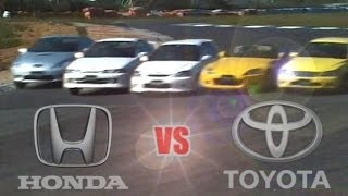 [ENG CC] Toyota vs. Honda - Integra R, Civic R, S2000, Celica, Altezza Ebisu 1999