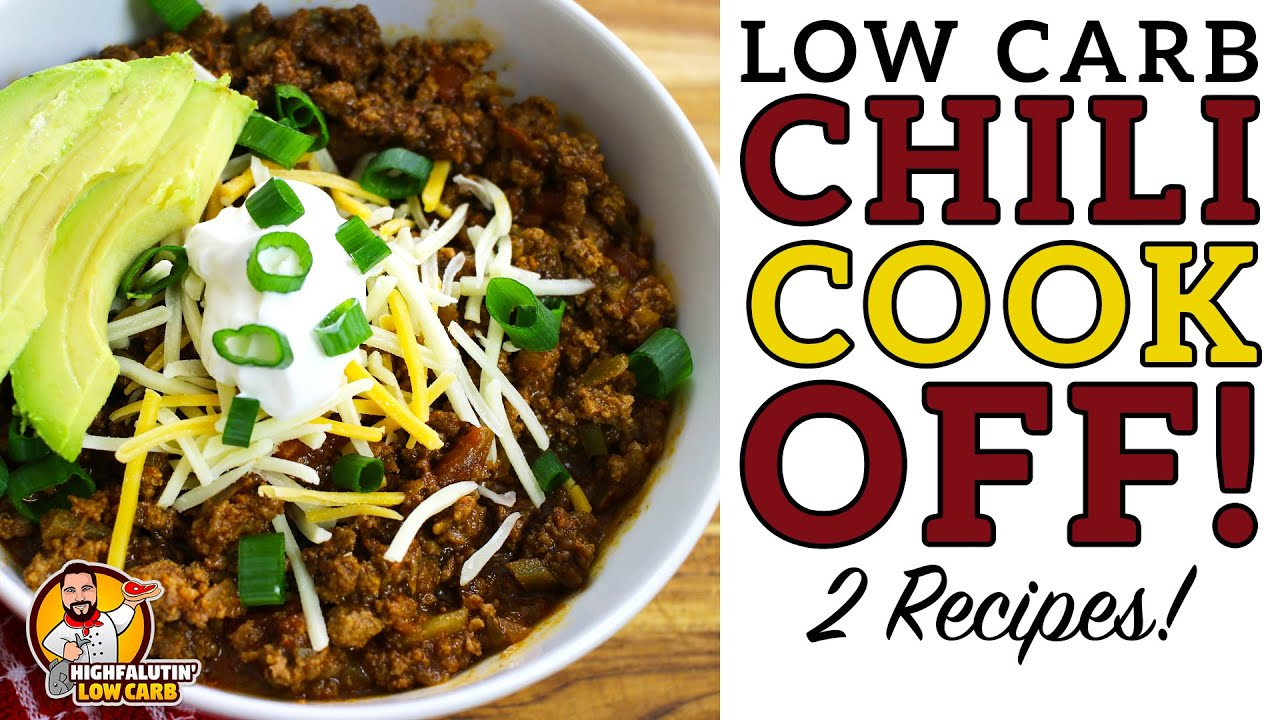 Low Carb Chili Cook Off The Best Keto Chili Recipe Youtube