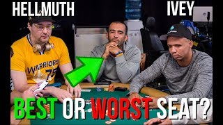 Sat between PHIL HELLMUTH and PHIL IVEY - How would you feel?