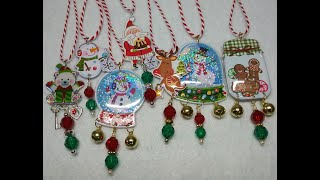Diy~adorable Christmas Ornaments Made With D.t. Puffy Stickers! Journals,treat Bags!
