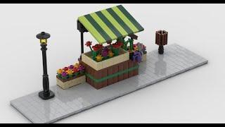 Lego Modular Corner Flower Stand | Turn every modular model into a corner