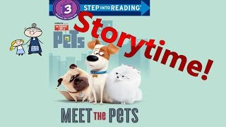 The secret life of pets read along ~ meet the pets ~ story time ~  bedtime story read aloud books