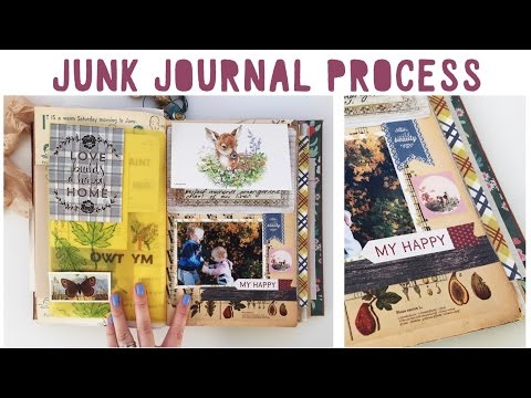 JUNK JOURNAL WITH ME - Ep 01 | How To Use A Junk Journal
