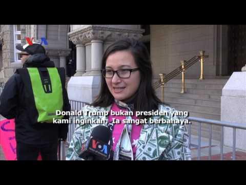 Pembukaan Trump International Hotel Diwarnai Unjuk Rasa