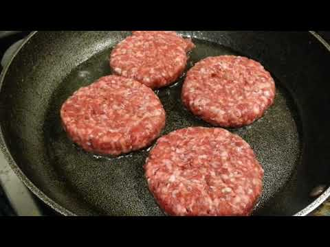 Delicious Home Made Beef Burger Recipe! Restaurant Style Burger (2019 Cooking Tutorial)