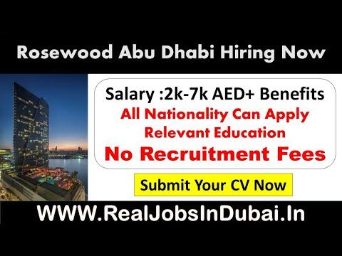 Hotel Jobs In Abu Dhabi | Rosewood Abu Dhabi Careers -2020
