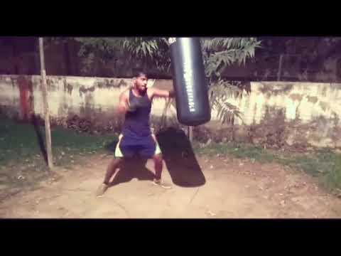 Akhil Boxing Club A. U. Rahul Tiwari kit Bag training