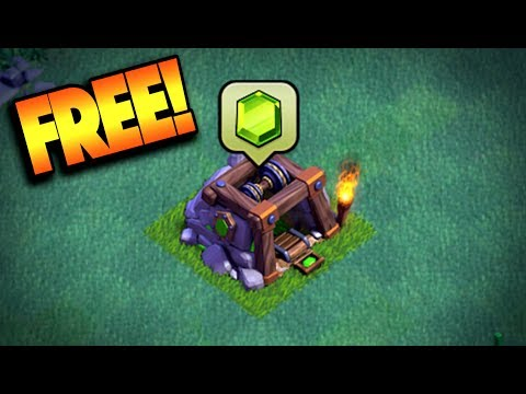 GET FREE GEMS IN-GAME IN CLASH OF CLANS! NEW BUILDER HALL UPDATE GEMMING!