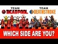 LEGO Deadpool vs Deathstroke Marvel vs DC Comics? Which Side Are You On?