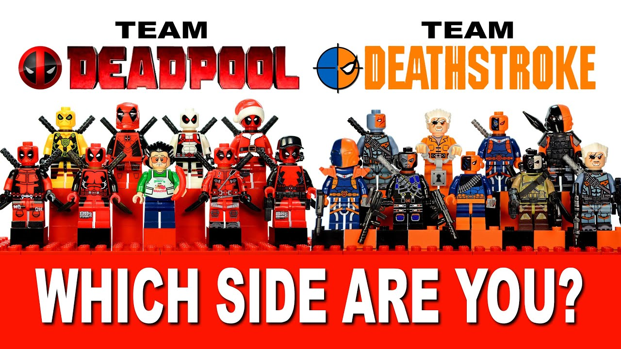 LEGO Deadpool Vs Deathstroke Marvel DC Comics Which Side Are You On