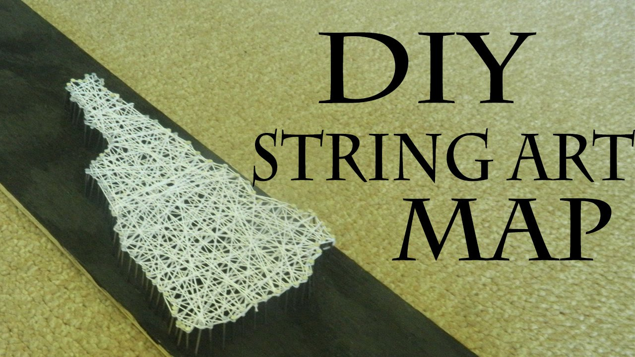 DIY String Art Map Decor - YouTube