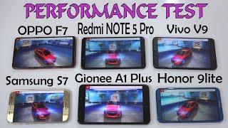 Oppo F7 Vs Vivo V9 Vs Redmi note 5 pro Vs Honor 9 lite Vs Samsung S7 Vs Gionee A1 Plus