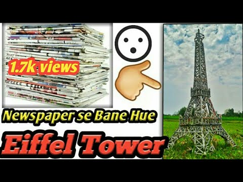 How to make the  Eiffel Tower with newspaper! Sowapric!  DIY