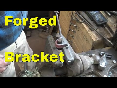 forging a bracket for clothes rod, curtain rod or towel bar