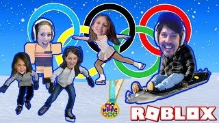 2018 WINTER OLYMPICS AT PYEONCHANG IN ROBLOX! GO FOR THE GOLD OR JUST GET THROUGH IT! FAMILY GAMING