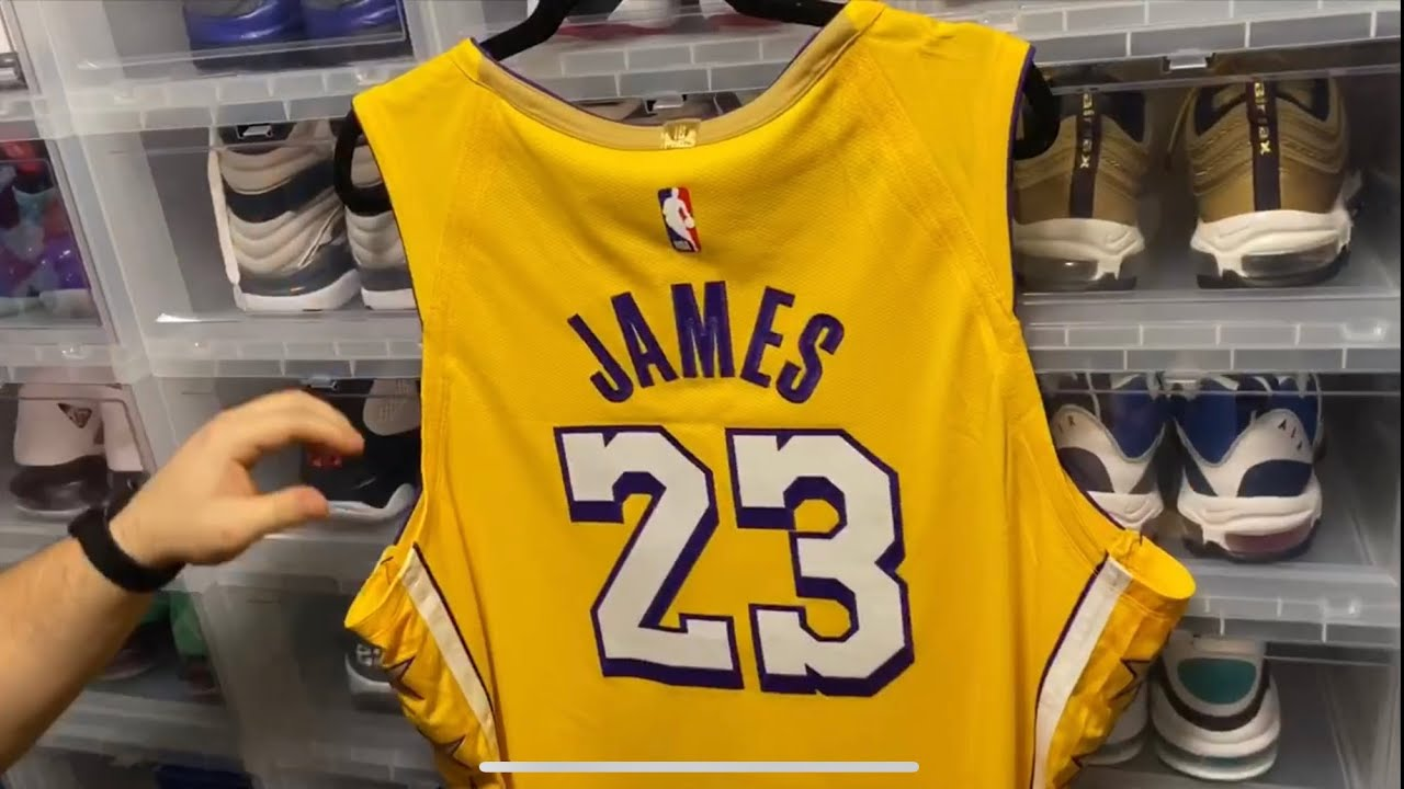 Authentic Lebron James 19/20 City Edition Los Angelos Lakers Jersey
