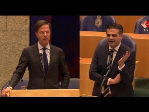 RUTTE vs. KUZU over Turkijerel - Eerste debat nieuwe Tweede Kamer 2017