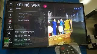 Hướng dẫn kết nối WiFi cho tivi LG smart TV