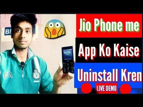 How To Unstall App In Jio Features Phone,Jio Phone Me App Ko Kaise Unstall Karen,Hindi