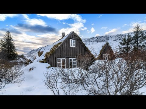 Abandoned Hobbit House in Iceland Build in Viking-age Turf Style
