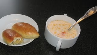 Fish Soup. Fish Cheese Soup Recipe. Patties With Fish.