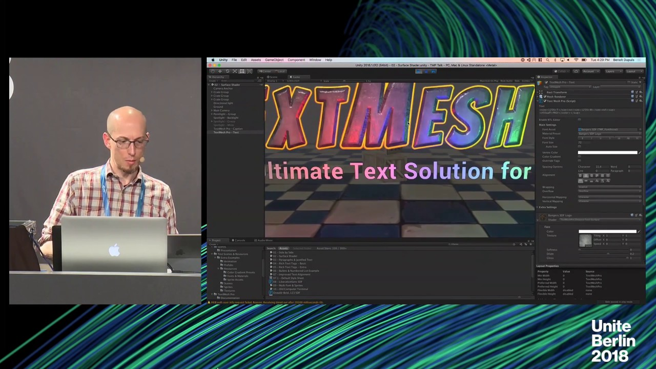 Unite Berlin 2018 - Text Mesh Pro for Runtime
