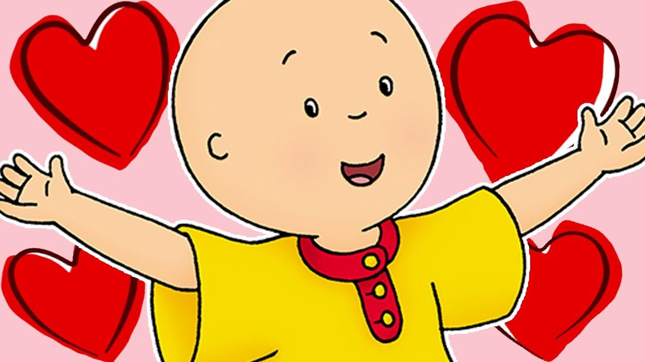 Caillou italiano san valentino cartoni animati per i