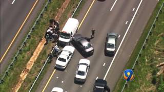MUST WATCH: Chopper 9 captured a chase, crash on I-77 in Iredell County