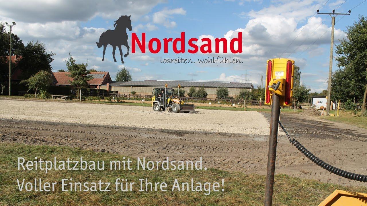 Berühmt Reitplatzbau mit Nordsand - YouTube GE64