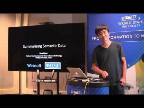 Gong Cheng: Summarizing Semantic Data