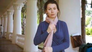 Как завязывать платки, шарфы, палантины(Заказать вирусный ролик http://humanvideo.ru/ Посвящается девушкам всего мира :) For girls all over the world with love ! На видео:..., 2010-09-20T06:45:52.000Z)