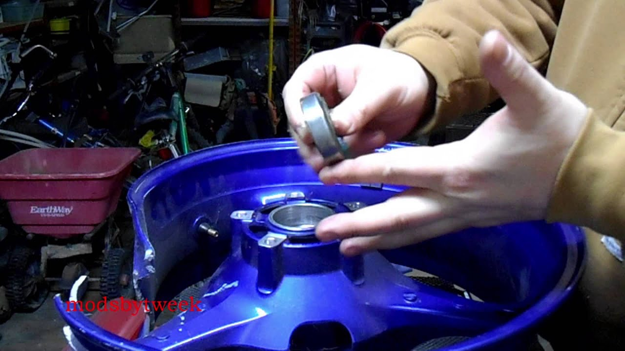 gsx r 600 wheel bearing removal and installation [ 1280 x 720 Pixel ]