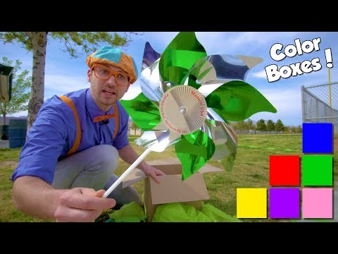 Learn Colors for Toddlers with Blippi | COLOR BOXES