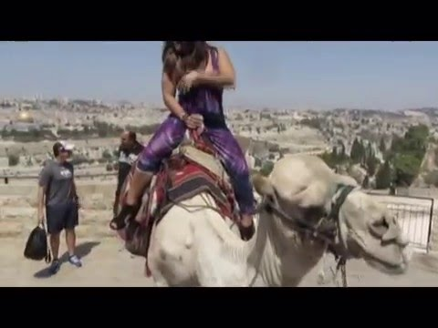 Mount of Olives, camel riding with the most important scenery in the world - Jerusalem