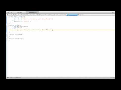 HTML5 geolocation (german)