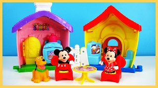玩迪士尼 米奇 米妮 魔幻小居家 布魯托 狗屋 廚房烤箱 野餐 遊戲組 玩具開箱