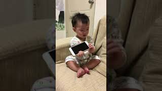 10708女兒嬰兒10個月時的叫爸爸聲音Baby called daddy's voice