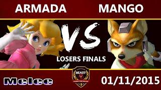 B.E.A.S.T 5 - [A] Armada (Peach) Vs. C9 Mango (Fox) - Melee Losers Final