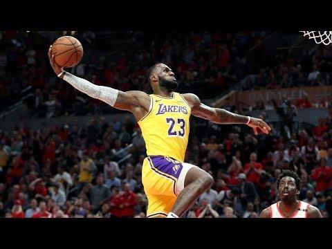 LeBron James Lakers Debut! Back to Back Dunks! 2018-19 NBA Season
